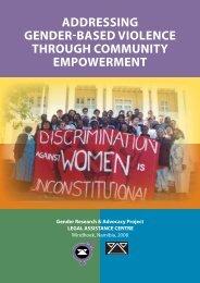 Addressing gender-based violence through community empowerment