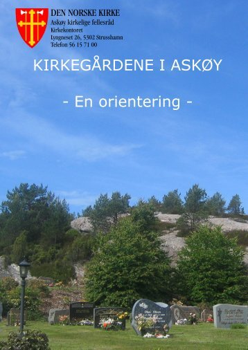 Orientering om gravferd. - kirken på Askøy