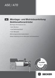 Bedienungsanleitung - Becker-Antriebe International