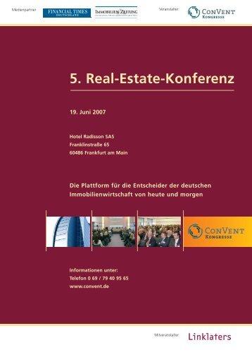 5. Real-Estate-Konferenz - Forschungscenter Betriebliche ...