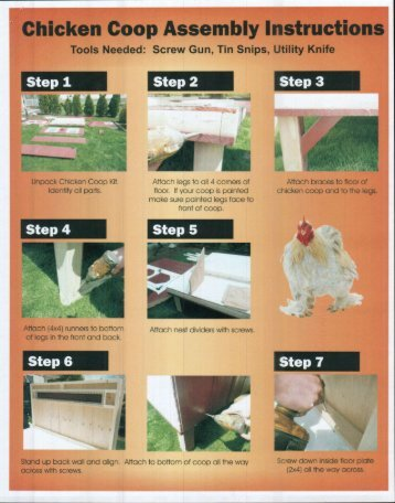 Assembly Instructions - Chicken Coops