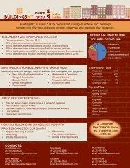 2014 Attendee Fact Sheet - Buildings NY