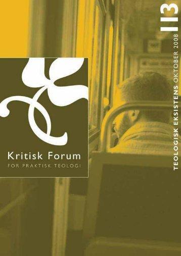 Kritisk Forum nr. 113 - Anis