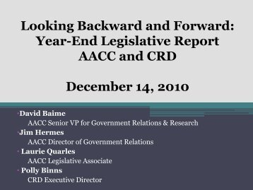 View the webinar - American Association of Community Colleges