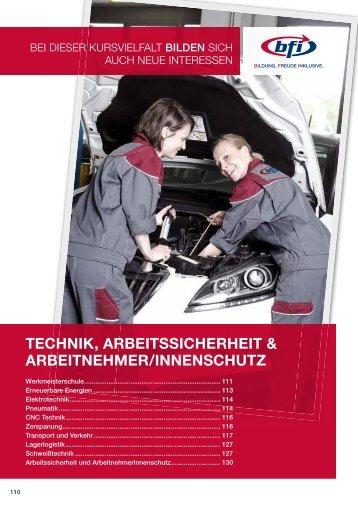 Technik und Arbeitssicherheit - BFI NÖ