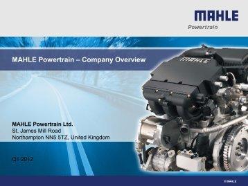 [PDF] MAHLE Powertrain – Company Overview - mahle.com