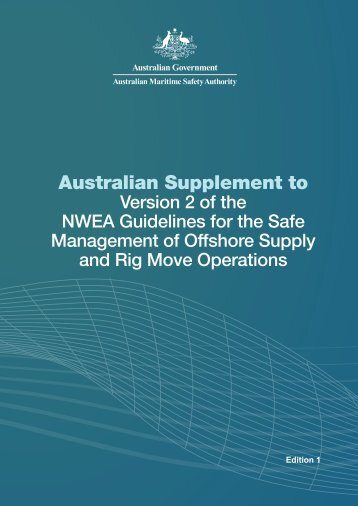 Australian Supplement to - Australian Maritime Safety Authority