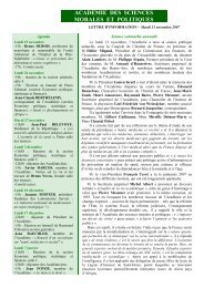 Mardi 13 novembre 2007 - Académie des sciences morales et ...