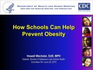 How Schools Can Help Prevent Obesity - Lorain County General ...