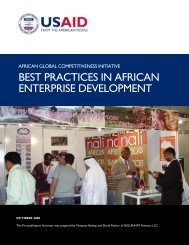 best practices in african enterprise development - Economic Growth ...
