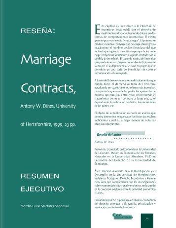 Marriage Contracts - Universidad Externado de Colombia
