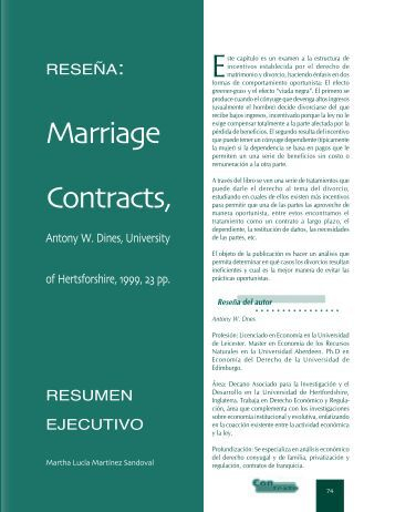 Marriage Contracts - Universidad Externado de Colombia