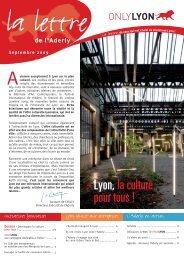≥ Lyon,la culture pour tous ! - Aderly