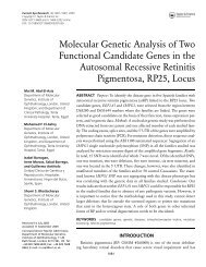 Molecular Genetic Analysis of Two Functional Candidate Genes in ...