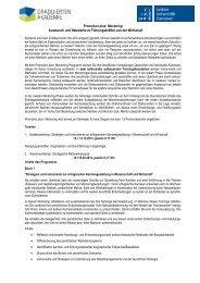 Ablauf Promotion plus+ Mentoring - Graduiertenakademie - Leibniz ...