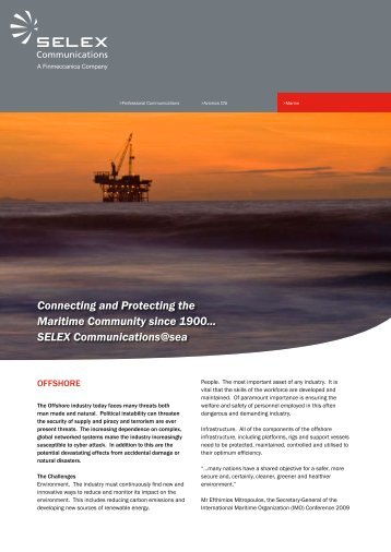 Connecting and Protecting the Maritime Community since 1900 ...