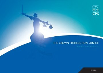 CPS Business Plan 2009-10 - Full PDF version - Crown Prosecution ...
