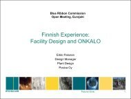 ONKALO current status - Blue Ribbon Commission on America's ...
