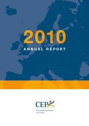 ANNUAL REPORT - CEP, the European Organisation for Probation