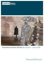 International business attitudes to corruption – survey 2006 - CSR Asia