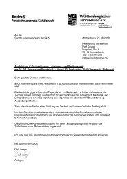 An die Sport-/Jugendwarte im Bezirk 5 Ammerbuch, 21.06 ... - WTB