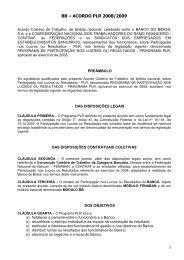 acordo plr 2008/2009 - Sindicato dos Bancários do Maranhão
