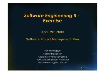 Software Engineering II - Exercise - Chair for Applied Software ...