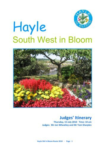 2010 south west in bloom route - Hayle in Bloom