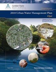 Draft Report 2010 Urban Water Management Plan— Ojai