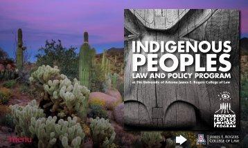 About IPLP (pdf) - College of Law - University of Arizona