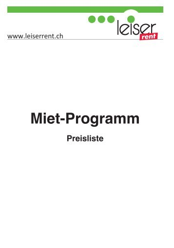 Mietprogramm - Leiser AG