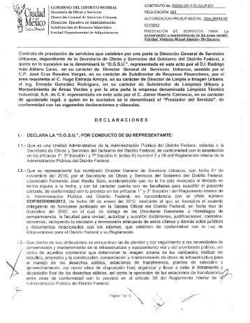DGSU/2012/DLIU/ LP-021 - Secretaria de Obras y Servicios