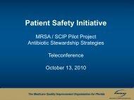 MRSA/SCIP Pilot Project Antibiotic Stewardship Strategies - FMQAI
