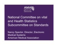 session iv: presentations - National Committee on Vital and Health ...