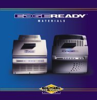 EDGE READY Materials brochure - Gerber Scientific Products