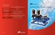 Automatic Water Filtration Assembly - Ingersoll Rand
