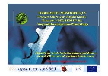 Klasyfikacja i istota kryteriów wyboru projektów w ... - mojregion.eu