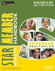STAR Health Member Handbook - Fostercare Texas