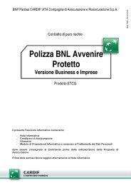 Polizza BNL Avvenire Protetto - Business: Fascicolo Informativo