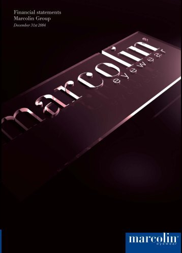 Financial statements Marcolin Group