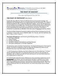 THE FEAST OF SHAVUOT - Rhm-Net.org