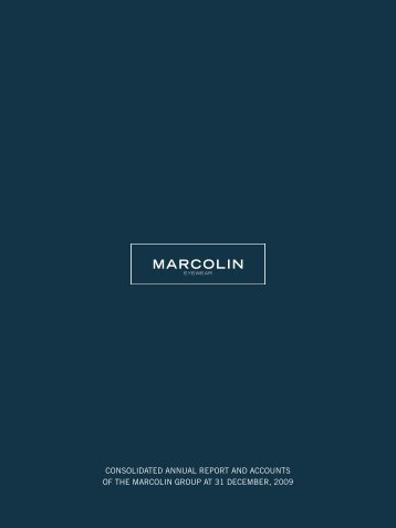consolidated annual report and accounts of the marcolin group at 31 ...