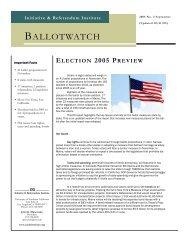 BW 2005-2 (update).pub - Initiative and Referendum Institute
