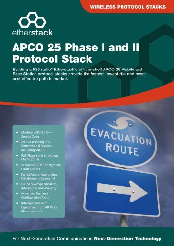 APCO 25 Phase I and II Protocol Stack - Etherstack