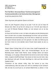 Wbo-Jahrestagung Vortragsreihe 28. Oktober 2010 Prof. Karl Born ...