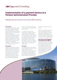 Implementation of a payment factory at a Pension Administration ...