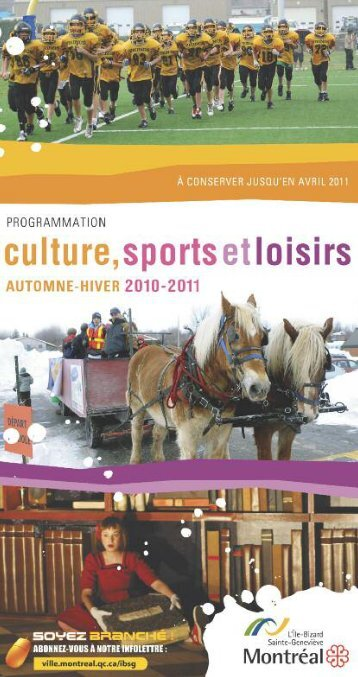 programmation sports et loisirs - Accès Culture