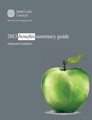2013 benefits summary guide - Jones Lang LaSalle