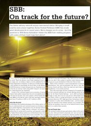 SBB: On track for the future? - Swiss News