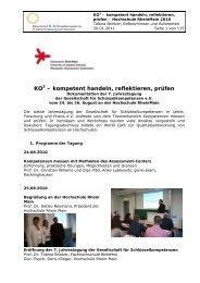 Dokumentation der Tagung - Gesellschaft für ...